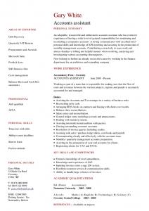 resumes for waitresses accounts assistant cv