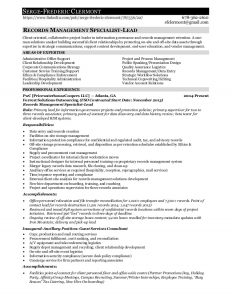 resumes format download records management employment resume for serge f clermont