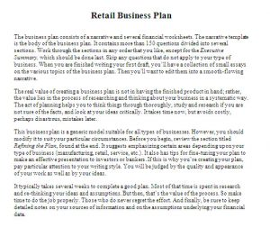retail business plan retail business plan template