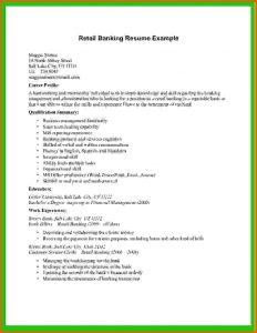 retail resume template basic cv templates retail retail banking resume example