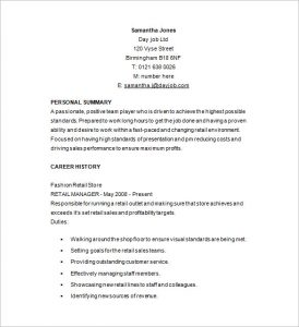 retail resume template retail management resume example