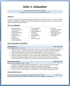 retail resume template retail store manager resume