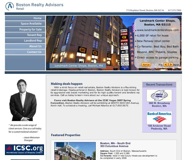 retail web site