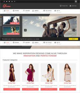 retail web site retail fashion website template