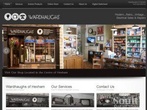 retail web site wardhaughs hexham website screenshot