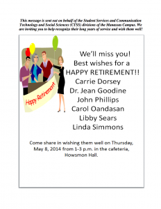 retirement flyer template screen shot at pm