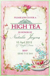retirement invitation templates ccadaedce high tea invitations shower invitations