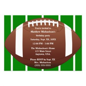 retirement invitation templates football birthday invitation templates free