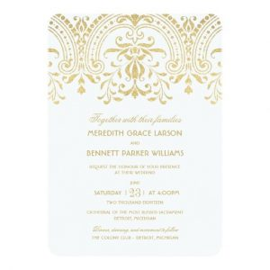 retirement invitation templates wedding invitations gold vintage glamour invitation card