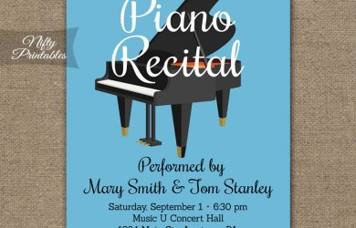 retirement party invitation templates piano recital