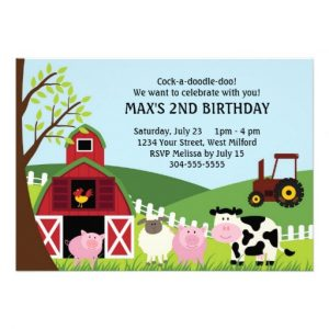 retirement party invitations templates farm kids birthday invitation