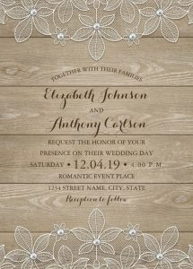 retirement party invitations templates rustic wood lace wedding invitations elegant vintage luxury cards