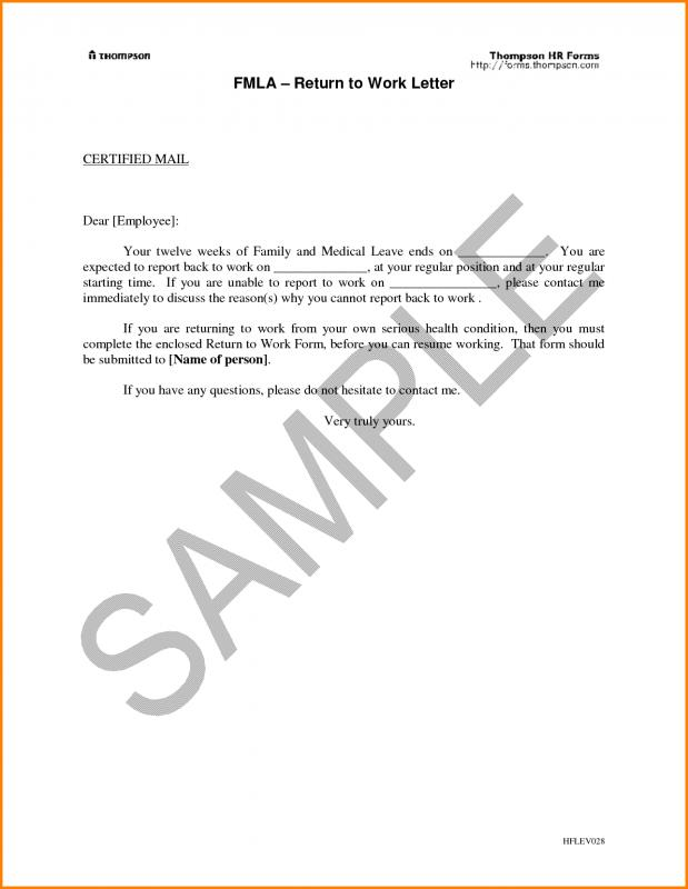 return to work with restrictions letter