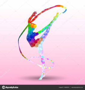 ribbon banner template depositphotos stock illustration creative silhouette of gymnastic girl