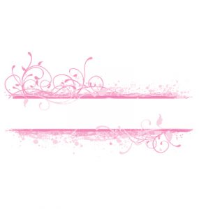 ribbon banner template pink banner vector