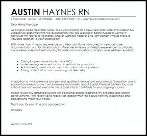 rn resignation letter neonatal nurse