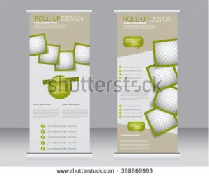 roll up banner design stock vector roll up banner stand template abstract background for design business education advertisement