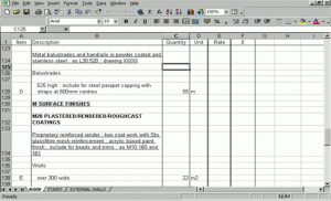 roof estimate template bill of quantities