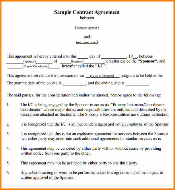 Written agreement between two parties sample contract agreements roofing contract template template business platinumwayz