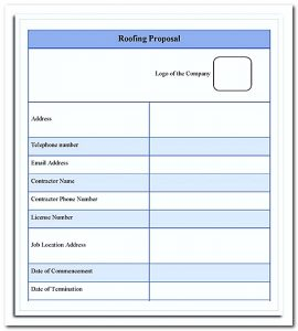 roofing estimate templates download the roofing estimate proposal template