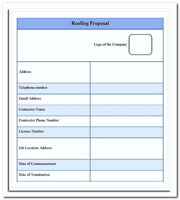 roofing estimate templates