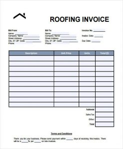 roofing estimate templates roofing invoice template