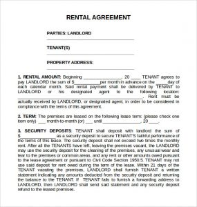 room leasing agreement printable standard rental agreement