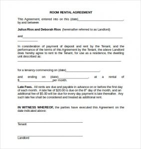 room rental agreement doc room rental agreement doc