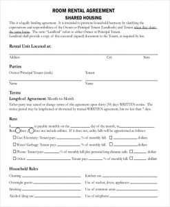 room rental agreement doc room rental agreement pdf free download