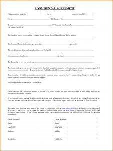 room rental agreement template room lease agreement