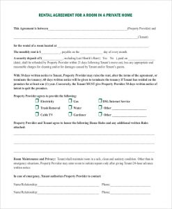 room rental agreement template room rental agreement in private home pdf download