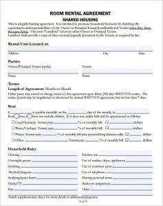 room rental agreement template room rental agreement template
