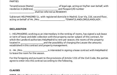 room rental agreement template room rental lease agreement template