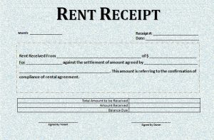 room rental lease agreement rental receipt template word