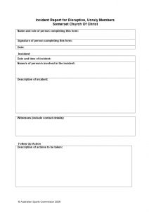 root cause analysis forms incident report template