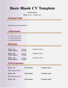 rubric template word basic cv templates for year olds