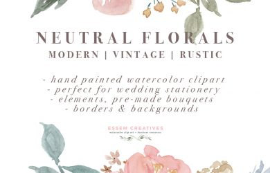 rustic wedding invitation templates neutral watercolor flowers clipart floral borders frames for wedding invitations logos commercial use