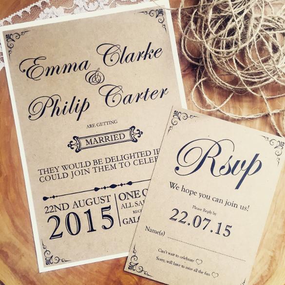 rustic wedding invites templates