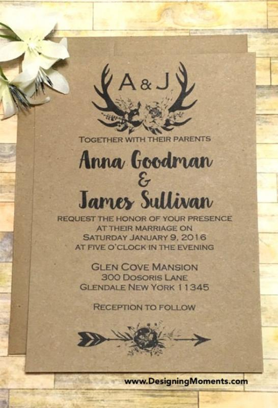 rustic wedding invites templates