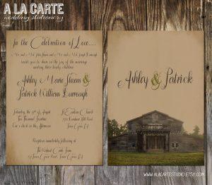rustic wedding invites templates rustic wedding invitation template