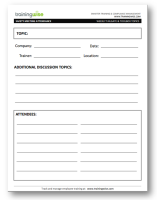 safety meeting sign in sheet