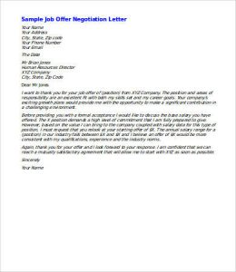 salary negotiation letter new job salary negotiation letter sample