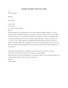 salary negotiation letter sample job offer thank you letter sample job offer thank you letter