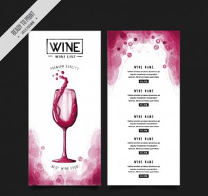 sale flyers template wine menu