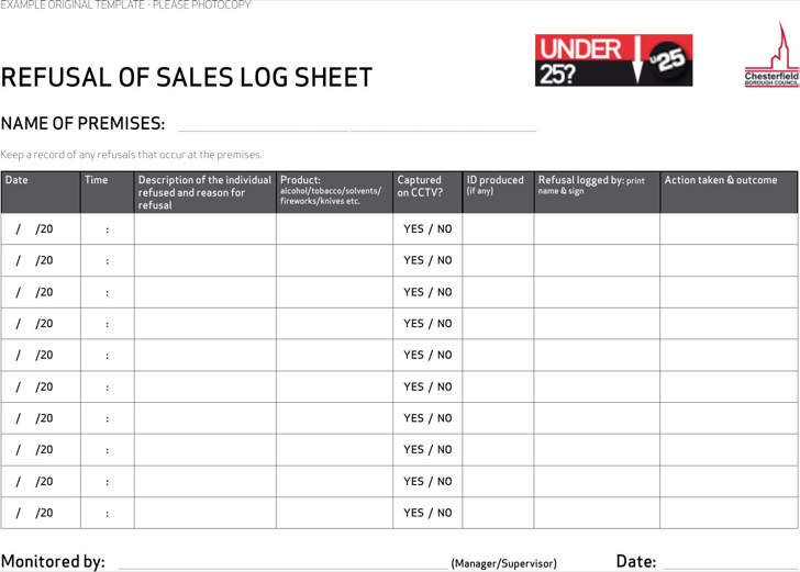 sale sheet example