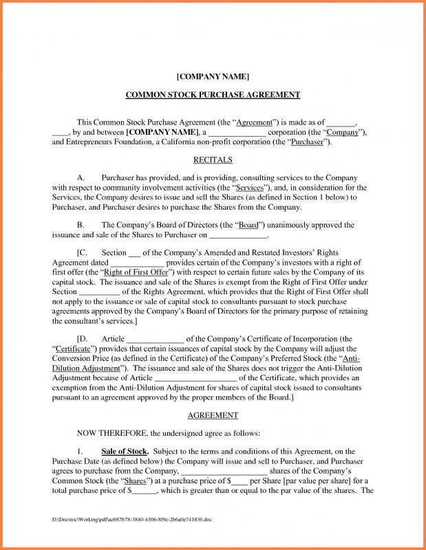 Sales Agreement Template  Template Business