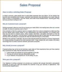 sales business plan sales proposal example sales proposal ideas