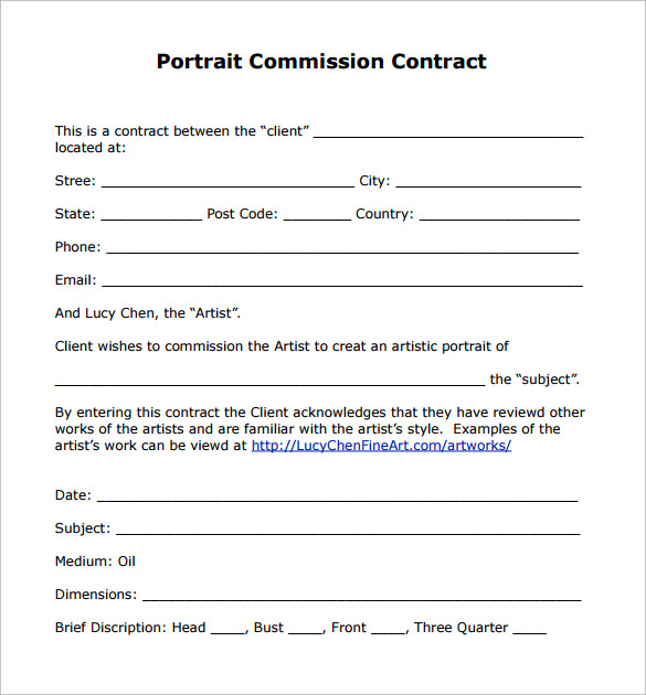 Sales Contract Sample  Template Business