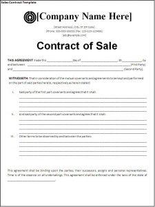 sales contract template sales contract template eavvtdhh