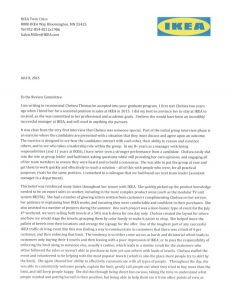 sales letters sample ikea recommendation letter